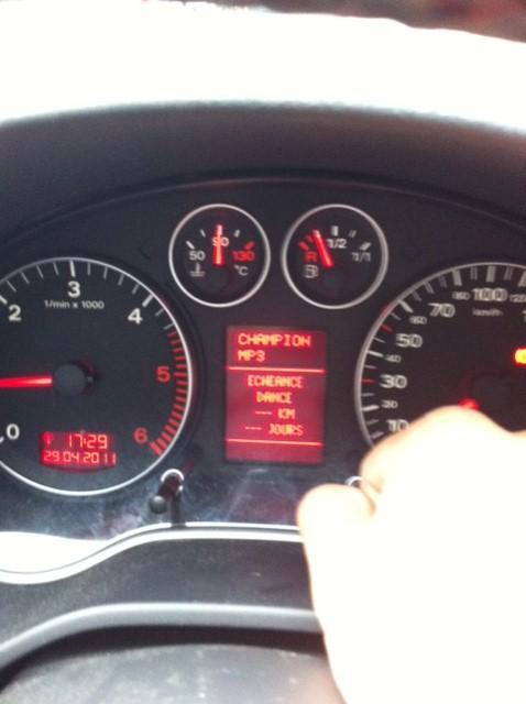 Audi A4 2.0 T >> RAZ echeance entretien impossible ! : Entretien de votre A3 - Forum Audi A3 8P - 8V