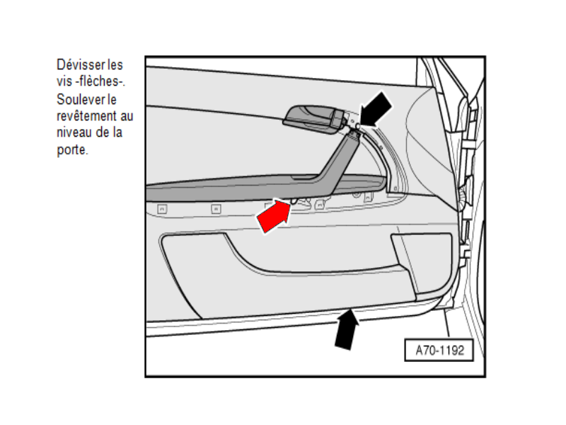 how to open audi a3 2005 door panel