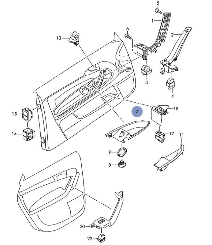 Boutons l ve vitre conducteur accessoires int rieur for Interieur a3 2000