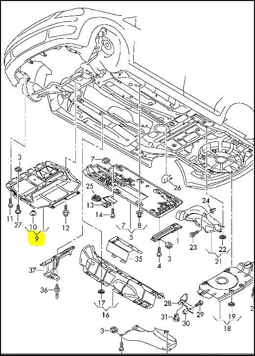 rech  ref protection carter moteur   r u00e9f u00e9rences officielles des pi u00e8ces a3 8p