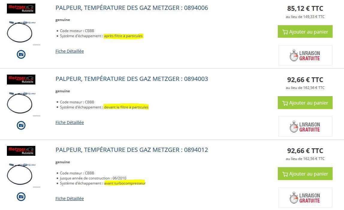 Sonde G235 HS - Température gaz échappement : Problèmes Electrique