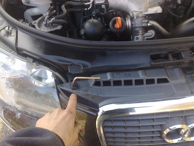 Demontage phare audi a6