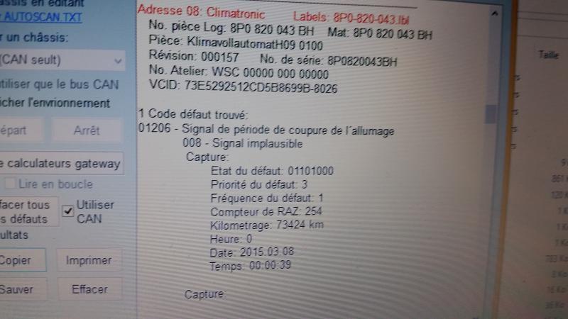 Elle ne demarre pas code erreur probl mes m canique - Code erreur s04 03 ...