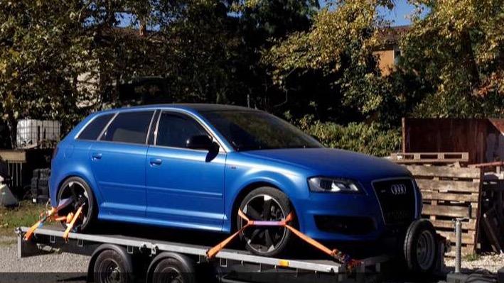 audi-virgin  s3 spbk 2 0 tfsi 348 cv    507 n m bleu sprint   garages des s3 2 0 tfsi